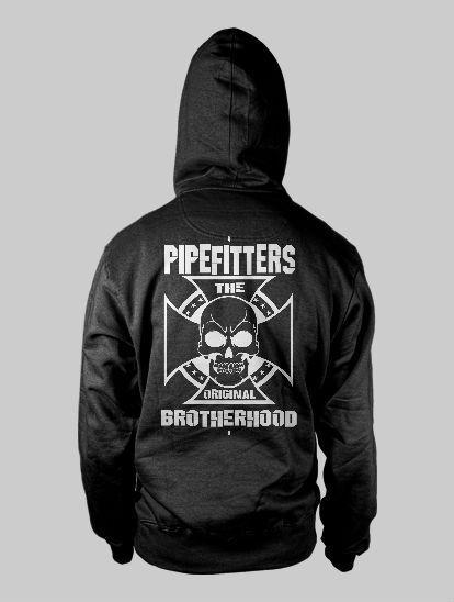 Union Pipefitter HOODIE Union Steamfitter shirt Skull Union Supporter CROSS 2