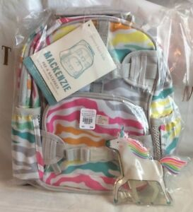 Pottery Barn Pre K Rainbow Zebra Mini Backpack Unicorn