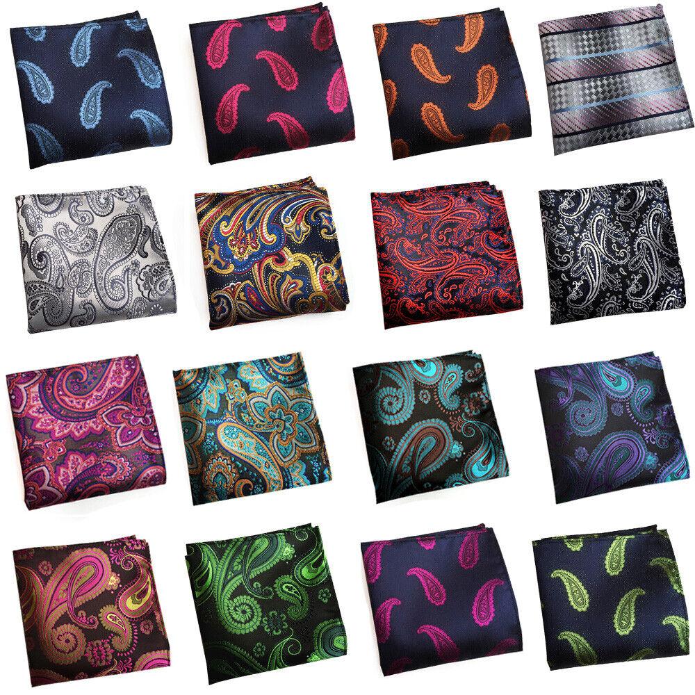 Men Business Colorful Paisley Handkerchief Gentlemen's Suits Hanky Pocket Square