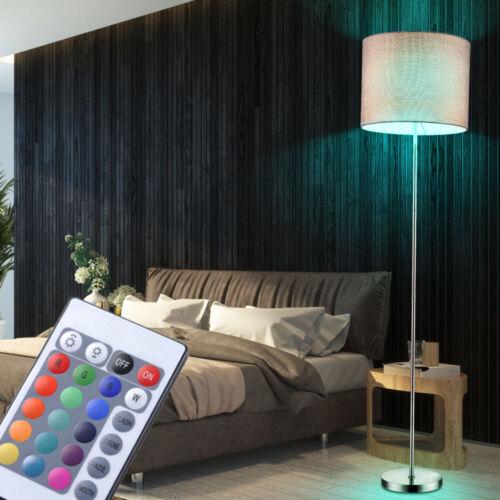 RGB DEL lampe debout variateur Textile Salon Chambre Lampe Télécommande Hauteur 160 cm