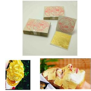 Edible Gold Leaf Sheets 24K 100% Genuine For Arts Nail ...