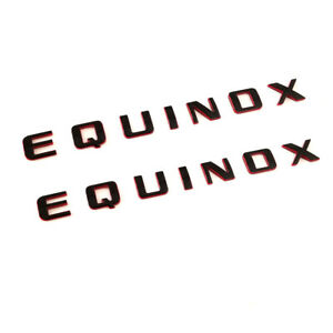 1x OEM Black EQUINOX Emblem Badge 3D logo Nameplate Letter for GM Chevrolet L
