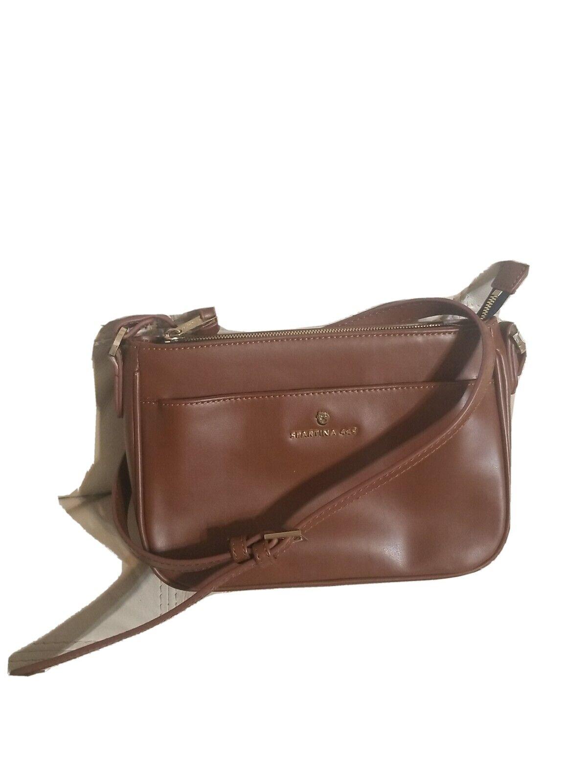 Spartina Bag Crossbody Small Leather Brown Rare!