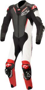 Alpinestars-ATEM-v3-1-Piece-Leather-Motorcycle-Riding-Suit-Black-White-Red