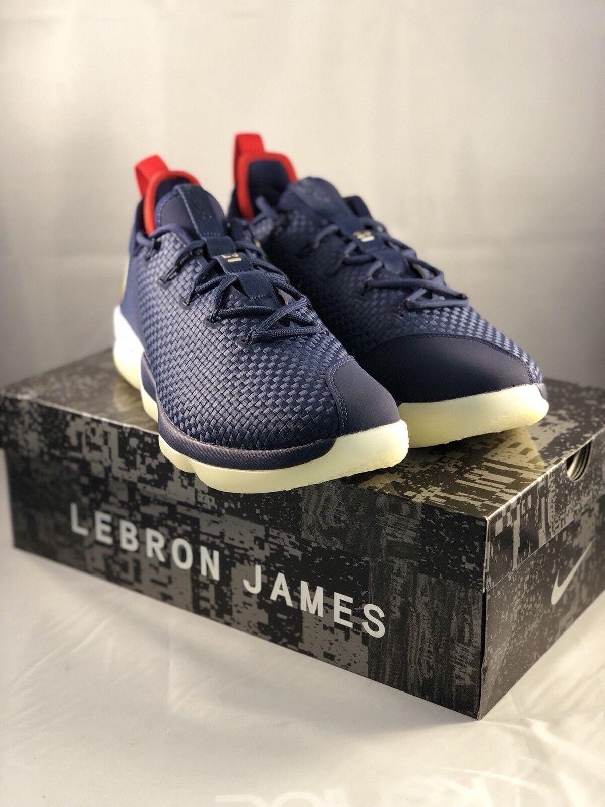 timeless design 89944 5c926 Nike LeBron XIV XIV XIV 14 Low Men s Size 11.5 Basketball shoes Navy gold  878636-