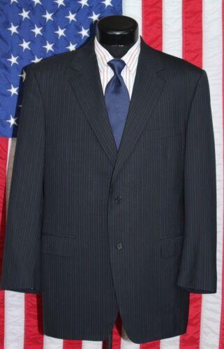 Sport Wool Coat 46r Jacket Canali Blazer antracite scuro grigio righe a Italy Grigio EXdwwqY