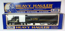 K LINE  ELECTRIC TRAINS  SEMI  TRACTOR TRAILER  TRUCK HEAVY HAULER  O scale 1/43