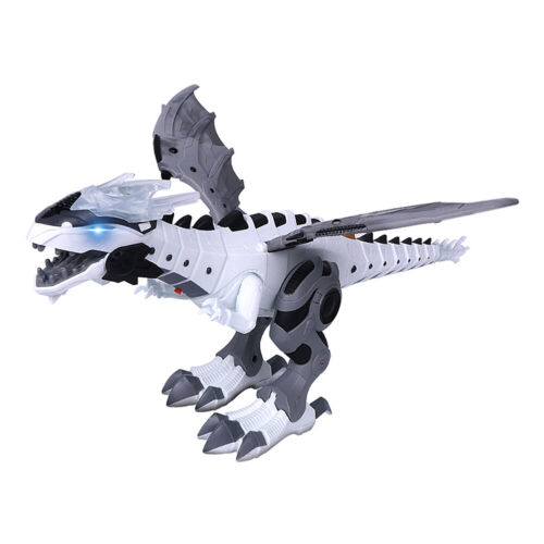 Electric Walking Spray Dinosaur Robot with Light Sound Mechanical Model Toy #LY