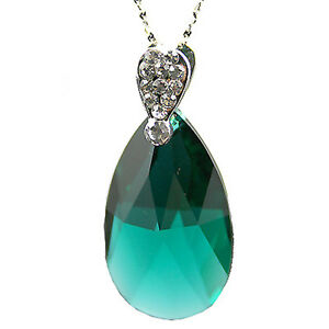 Indian-Emerald-Green-Teardrop-Crystal-Silver-Necklace-with-Swarovski-Elements-UK