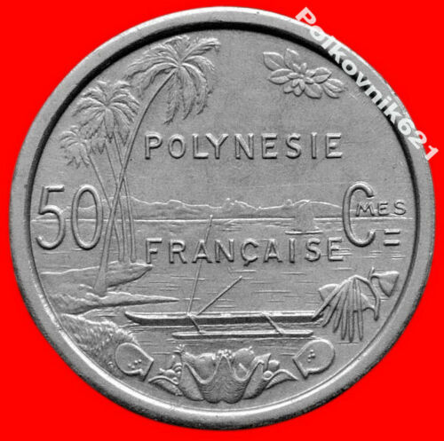 French Polynesia 50 Centimes 1965 Uncirculated