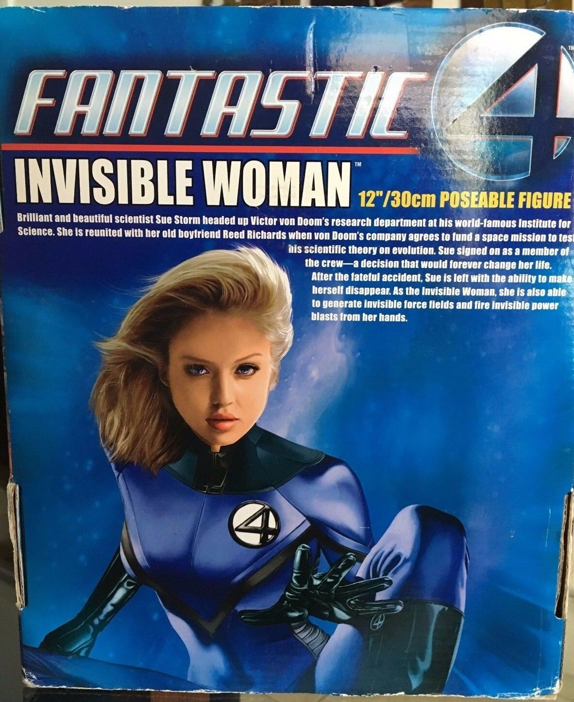 Fantastic 4 4 4 INVISIBLE WOMAN 12 Poseable Figure 539a82