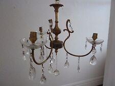 3 Arm Glass Crystal Chandelier Ceiling Light