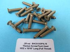 """Button Head Screws Boeing Aircraft BACB30NT3R1 20 3//16"""" #10-32 x .400 Titanium"""