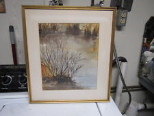 vintage mid century modern painting signed