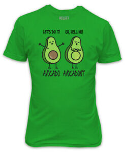 Avocado-avocadont-T-Shirt-Vert-Biologique-Drole-VEGAN-VEGETARIEN-Real-sain