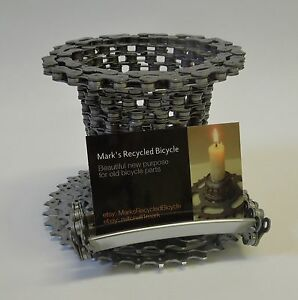 Recycled Bicycle Chain Pencil Or Pen Holder With Card