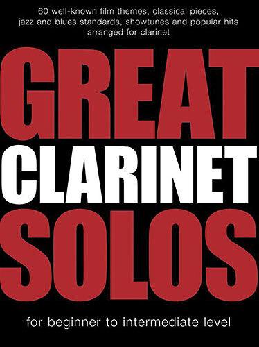 Great Clarinet Solos Clarinet Sheet Music Instrumental Album