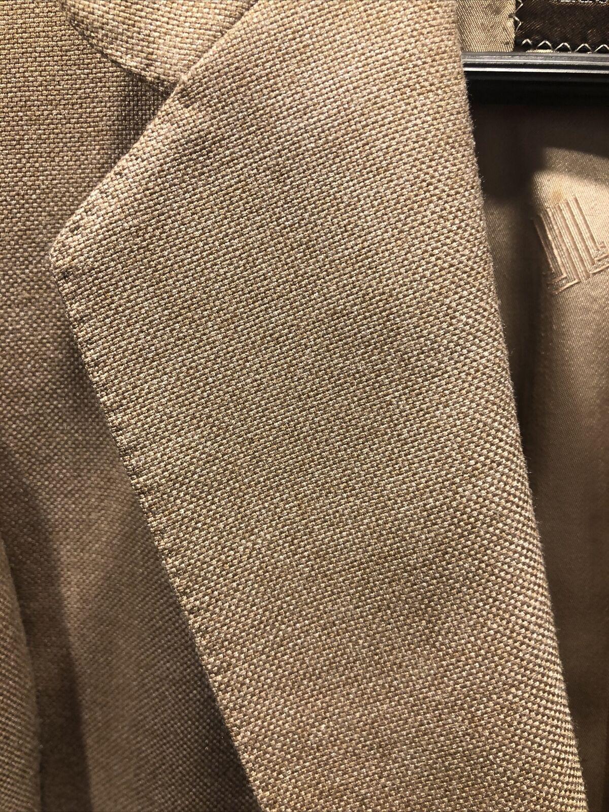 Vintage Lanvin Linen Blazer jacket Men's 42s  197… - image 12