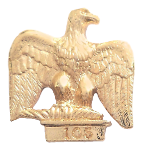 French Imperial Eagle Hand Made Gold Plated English Pewter Pin Badge