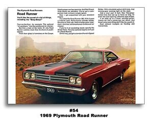 24x36 1969 plymouth road runner mopar ad poster art rts 440 383 426 image is loading 24x36 1969 plymouth road runner mopar ad poster freerunsca Images