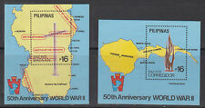 Philippine Stamps 1992 World War II , 50th Anniversary souvenir sheets MNH