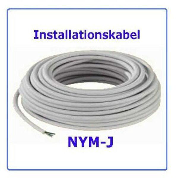 Mantelleitung  NYM-J 1x6 , 50m Erdungskabel