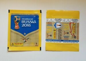 Panini-coupe-du-monde-2018-1-Sac-McDonalds-Russie-Packet-Pack-Bustina-Russia-World-Cup-18