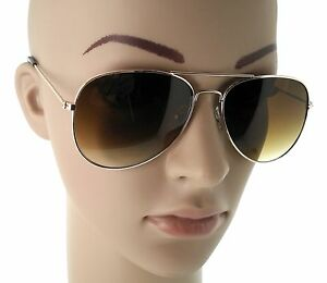 4c8c1bdf39d2a Women s Large GOLD Aviator Sunglasses Brown Lens Big Frame Sexy ...