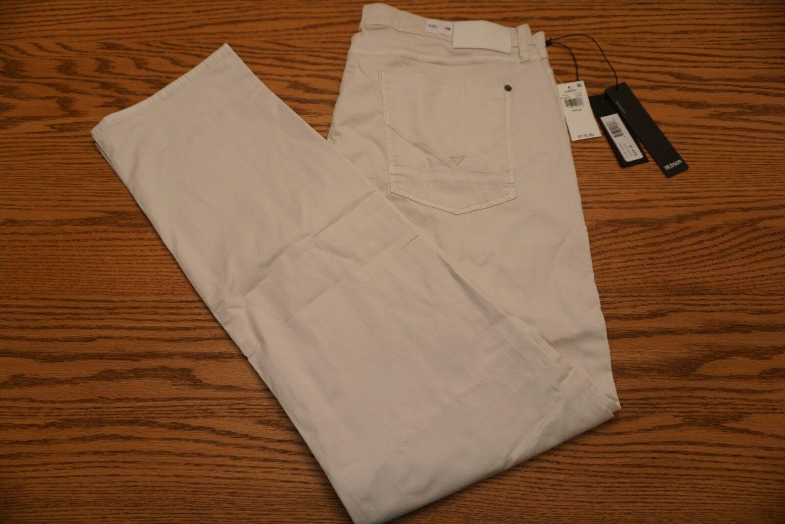 NWT MEN'S HUDSON PANTS JEANS Multiple Sizes BLAKE Slim Straight Off-White