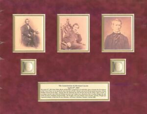Actual Hairs of Abraham Lincoln and William H. Seward - Relic - LAST ONE!