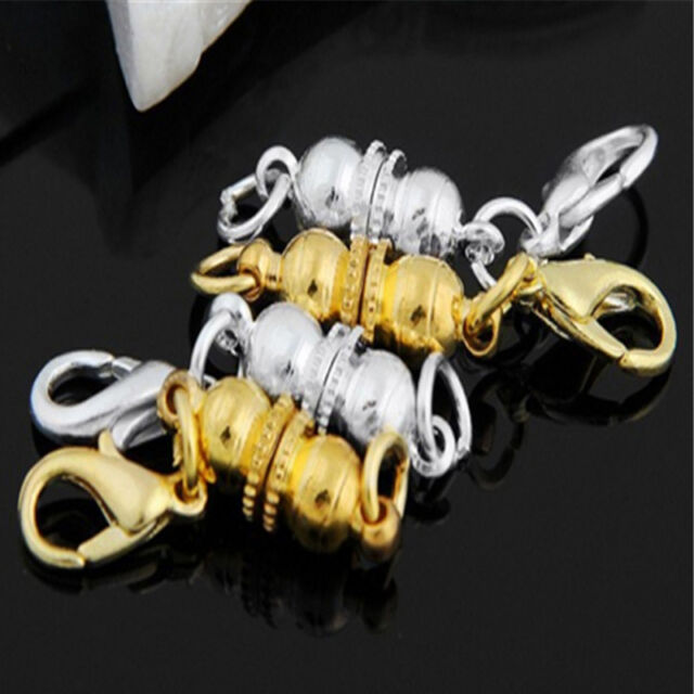 NUEVO 4X Strong Magnetic Necklace Clasps Jewellery DIY Bracelet Connectors 6mm S