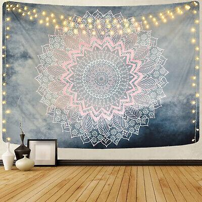 Pink Mandala Tapestry Art  Wall Hanging Tapestry Room Bedspread Decor Beach Thro