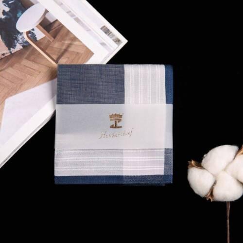 Multicolor Square Stripe Vintage Pocket Plaid Men 100/% Cotton Handkerchiefs