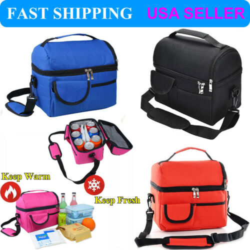 8L Insulated Lunch Box Tote Men Women Travel Hot Cold Food Cooler Thermal Bag US