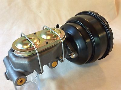 """1957-72 Ford F100 8/"""" Dual Diaphragm Black Power Brake Booster Ford Style Master"""