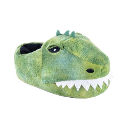 Slumberzzz Childs Dinosaur Head Slippers
