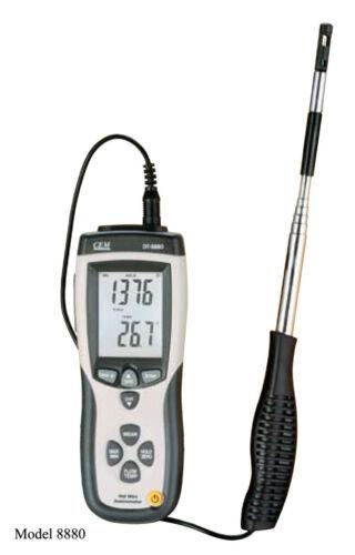 Hot Wire Thermo-anemometer dt-8880 el flujo de aire de velocidad Medidor Temperatura Tester!!