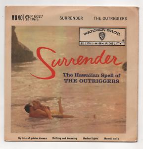 THE-OUTRIGGERS-SURRENDER-UK-1960-EP-WARNER-BROS-WEP-6027