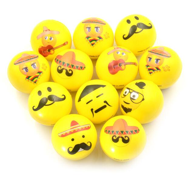PU Balls Bulk Lot Hand Stress Relief Squeeze Foam Ball FunnyFace Toys wholes uh