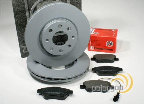 VW Crafter Zimmermann Bremsscheiben Bremsbeläge Verschleißkontakt für vorne