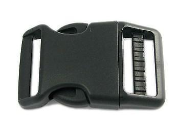 5 Steckschnallen gebogen 30mm Steckverschluss Steckschließer Kunststoff