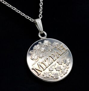 5288c35043f Image is loading Sterling-Silver-Mizpah -Ivy-Vine-Coin-Medallion-Inspirational-