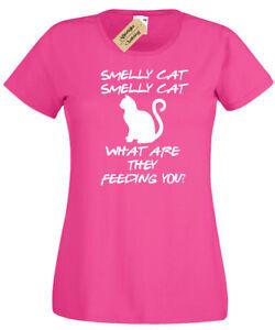 Smelly-Cat-T-shirt-femme-amis-drole-Phoebe-chanson-Femmes-Top-Citation-Cadeau
