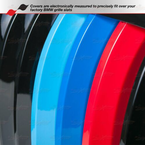 Fits BMW 5 Series E39 M5 1995-2003 Kidney Grille M Sport 3 Colour Cover Stripes