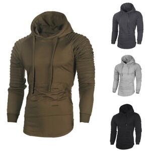 Fashion-Mens-Long-Sleeve-Hooded-Hoodie-Casual-Pleat-Slim-Fit-Raglan-Pullover-Top