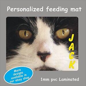 Personalised Cat Dog Any Pet Water Bowl Feeding Mat Pvc