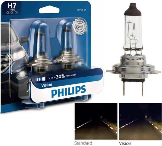 Philips Vision 30% H7 55w Due Lampadine Luce Testa Ricambio Moto