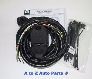 trailer tow wiring harness new 2014 2017 dodge durango 7 pin plug n play trailer tow wiring  7 pin plug n play trailer tow wiring