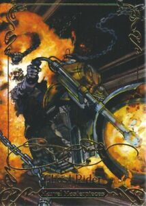 2018-Marvel-Masterpieces-Gold-Foil-Signature-Series-54-Ghost-Rider-Tier-2
