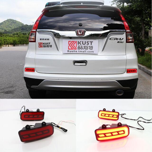 honda crv   red led reflector rear bumper tail light brake fog lamp  sale